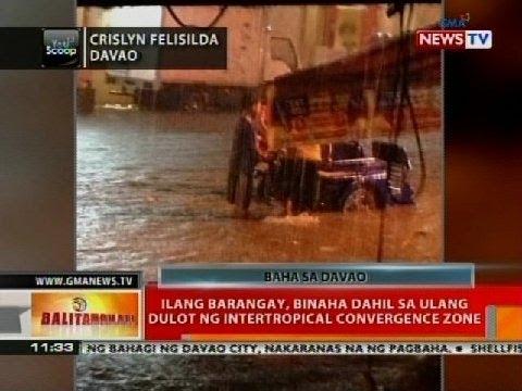 BT: Ilang barangay, binaha dahil sa ulang dulot ng intertropical convergence zone