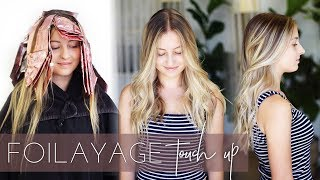 Foilayage Hair Technique - How to Touch up or Refresh a Balayage (Easy Tutorial)