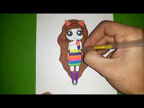 Рисуем ДЕВОЧКУ вместе, рисунки для срисовки