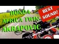 Honda Africa Twin Akrapovic Exhaust (DTC) - Review & perfect sound!