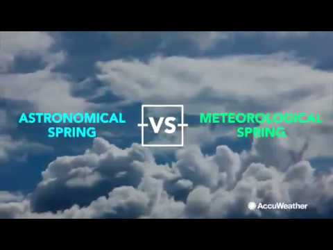 What's the difference between astronomical and meteorological spring?