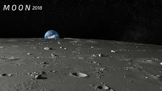Moon - Close Up View - Real Sound. HD