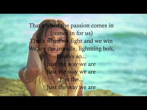 Alesha Dixon - The Way We Are ( Lyric video )