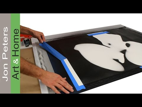 How to make a large painting using a stencil - YouTube