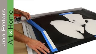 How To Make A Large Painting Using A Stencil - By Jon Peters