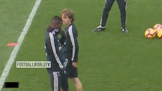 Luka Modric Gets Mad At Vinicius Jr ● Real Madrid Training Session (HD)
