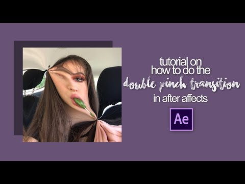 double pinch transition | after effects tutorial