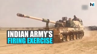 Sudarshan Chakra Corps of Indian Army holds firing exercise in Jaisalmer