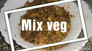 "Zero oil cooking recipes ""Mix Vegetables, Mix Veg"