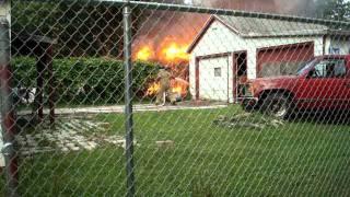 Garage fire in Hobart Indiana