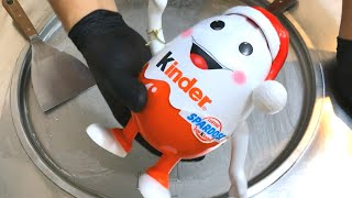 kinder Surprise Egg Figure - Ice Cream Rolls  unboxing toys opening and making Ice Cream for kids