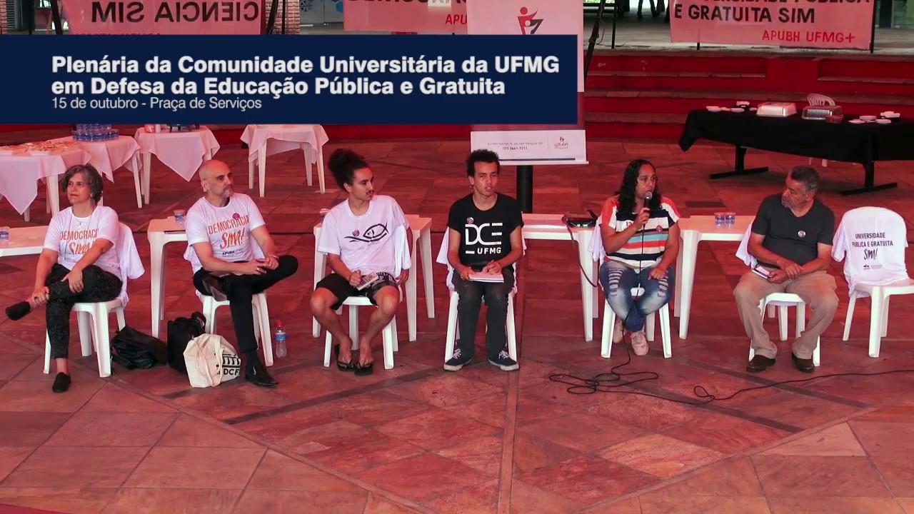 Plenária da Comunidade Universitária da UFMG em Defesa da Educação Pública e Gratuita