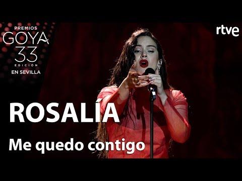 Rosalía canta Me quedo contigo | Goya 2019