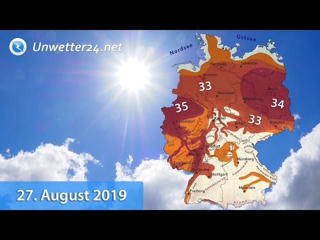 Bis zu 36 Grad! – InfoClip Hitzewelle