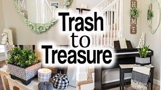 Trash to Treasure Projects ⚫ Farmhouse Fall Decor ⚫ Thrift Store Makeover