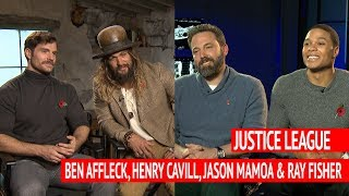 Could Justice League 2 be a musical?! Ben Affleck, Henry Cavill, Jason Mamoa and Ray Fisher weigh in