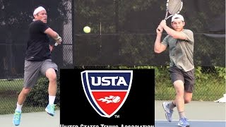 NTRP 4.5 Men's Singles USTA League - Ralph vs Andrew
