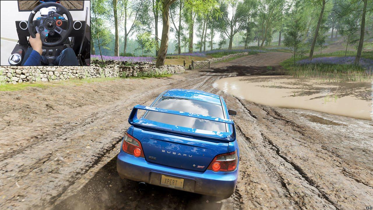 2004 Subaru WRX STI - Forza Horizon 4   Logitech g29 gameplay