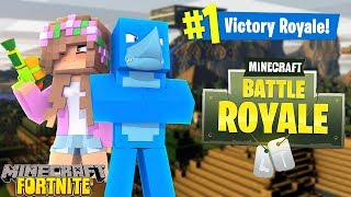FORTNITE IN MINECRAFT !!! w/ Sharky and Little Kelly