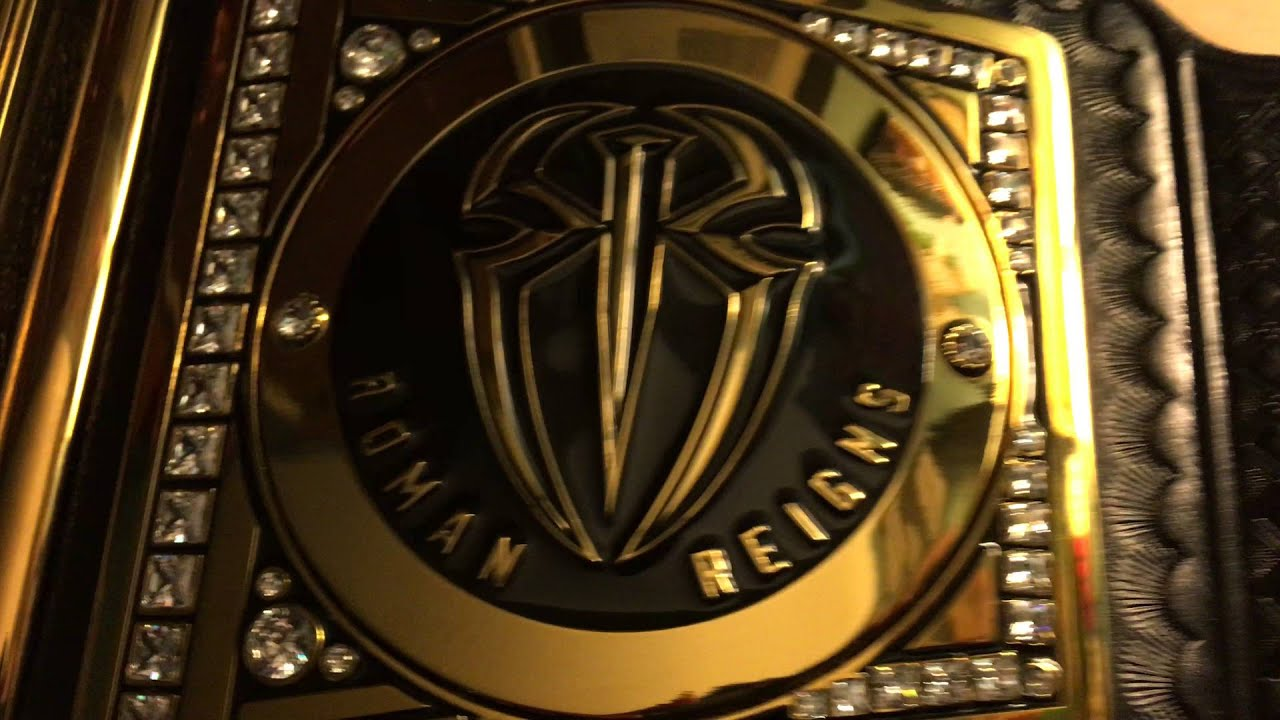 Roman Reigns Side Plates Wwe World Heavyweight