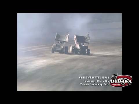 #ThrowbackThursday: World of Outlaws Sprint Cars Volusia Speedway Park February 10th, 2006