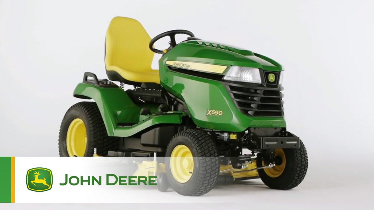 tracteur de jardin john deere x590 youtube. Black Bedroom Furniture Sets. Home Design Ideas