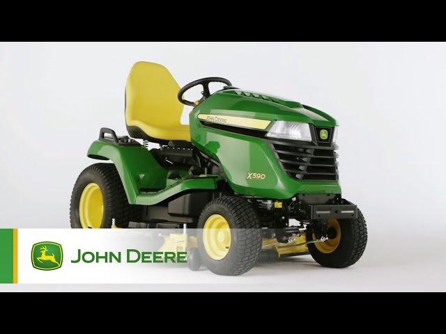 Tracteur de jardin John Deere X590