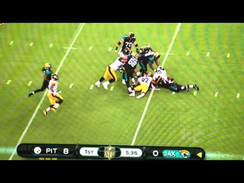 James Harrison sack forced fumble against the Jaguars