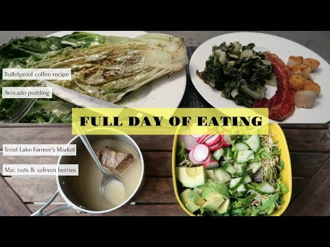 Full Day of Eating | My First VLOG | High fat, low carb, organic, local & legit AF meat n' veg!