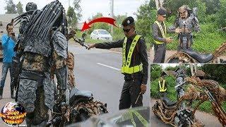 Saat Razia Kendaran, P0lisi ini Terkejut Melihat PREDATOR Naik Motor.!  Akhirnya Ditilang Deh!! thumbnail