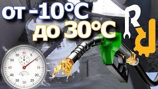 Сколько нужно времени и топлива для прогрева двигателя до 30°C зимой. | Эксперимент Ремонт Рено.