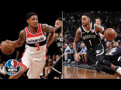 Bradley Beal and D'Angelo Russell face off in Wizards win vs. Nets | NBA Highlights