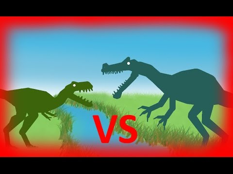 Dinosaurs Cartoons Battles: Angaturama vs Nanotyrannus. Динозавры мультфильм