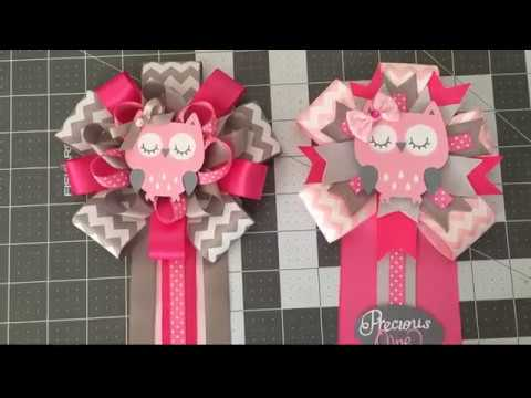 Baby Shower Owl Corsage 2 Youtube