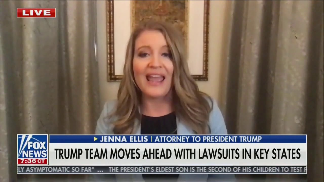 Jenna Ellis: We have sworn affidavits from people who saw voter intimidation
