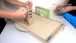 How to Make Penalty Game with Robot Goalkeeper ✅ - DIY Game from Cardboard | Dream Soccer 2017