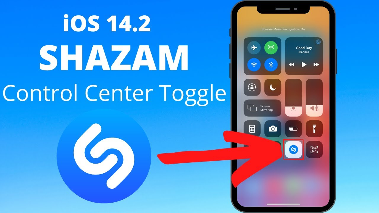 Download iOS 14.2: New Shazam Control Center Toggle!