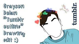 """Grayson Dolan """"tumblr"""" outline! // adobe draw"""