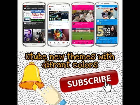 Change utube theme with different colors