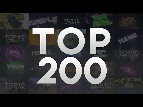 Top 200 Blender, After Effects & Cinema 4D Intro Templates 2016