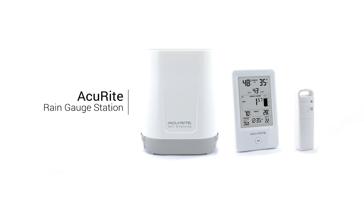 acurite digital rain gauge with thermometer u0026 humidity youtube
