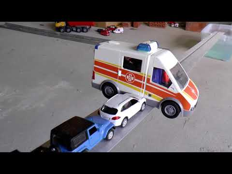 Police van fall into the water ASMR