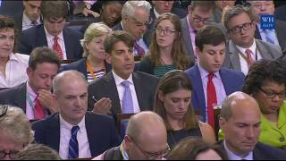 Sarah Sanders Press Briefing on Trump Russia Sanctions,north korea,boy scouts,Immigration