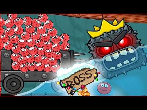 БОСС напал на несносный красный шарик ! Новая игра про несносный шар red ball 4 от Спуди !