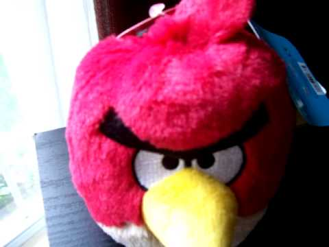 Angry Birds - Red Bird plush toy - sounds