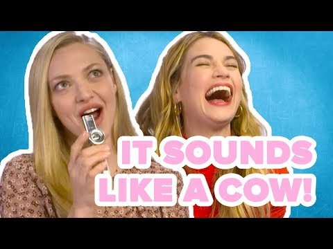 Mamma Mia! 2's Amanda Seyfried And Lily James Try To Play ABBA Songs On A Kazoo