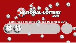 Lotto Plus 5 Results Sunday 2nd December 2012