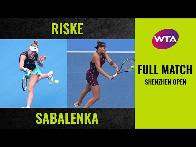 Alison Riske vs. Aryna Sabalenka | Full Match | 2019 Shenzhen Open Final