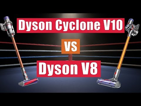 Dyson Cyclone V10 vs V8 Cordless Vacuums - Whats The Difference?