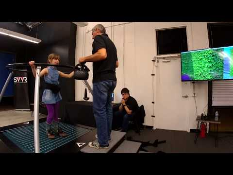 VR Treadmill by infinAdeck demo for The Coding Clubhouse